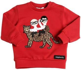 Dolce & Gabbana Embroidered Patch Cotton Sweatshirt
