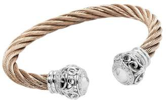Burgmeister Jewelry Women's Bangle Bracelet 925 Sterling Silver Cubic Zirconia JBM 3016–521