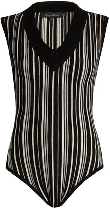TABULA RASA Tolun striped V-neck bodysuit