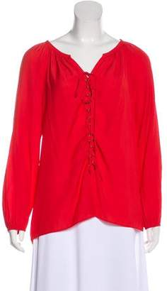 Ramy Brook Patty Lace-Up Blouse