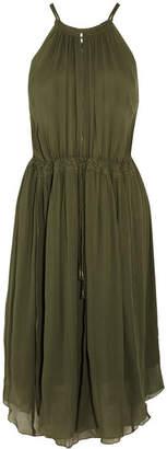 APIECE APART - Boronia Silk-crepon Dress - Green $575 thestylecure.com