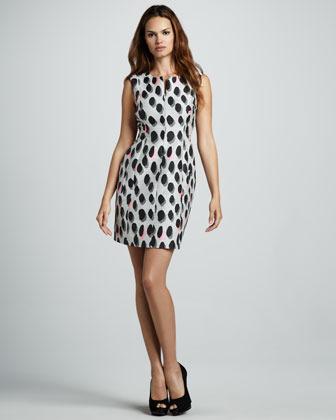 Diane von Furstenberg New Summer Animal Dots Minidress