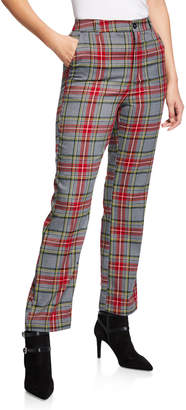 Free Generation Straight-leg Plaid Pants