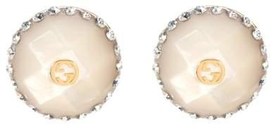 Buy Nieten-Ohrringe mit Kristallen!