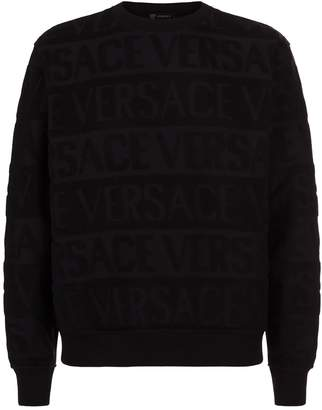 Versace Embroidered Logo Sweater