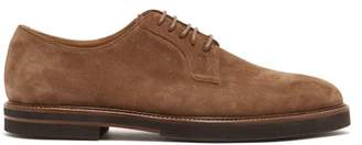 Tod's Suede Derby Shoes - Mens - Tan