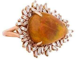 Suzanne Kalan 18K Diamond & Opal Antique Fireworks Cocktail Ring