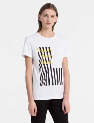 Calvin Klein logo flag printed t-shirt