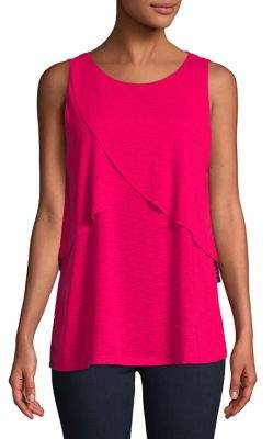 Lord & Taylor Plus Sleeveless Overlay Top
