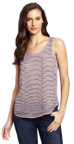 Kenneth Cole Women's Embellished Gauze Tank