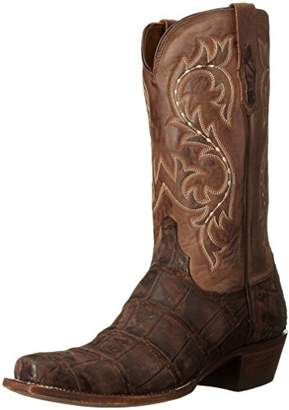 Lucchese Classics Men's Burke-Ch Giant Allig/Cafe Riding Boot