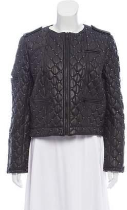 Alice + Olivia Embellished Leather Jacket