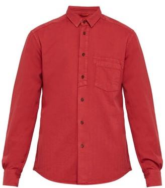Barena Venezia - Dorona Herringbone Twill Cotton Shirt - Mens - Red