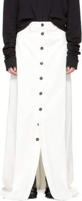 Matthew Adams Dolan SSENSE Exclusive White Denim Skirt
