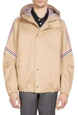 Thom Browne Elastic Stripe Seamed Hooded Jacket