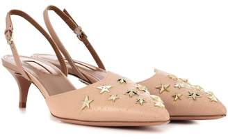 Aquazzura Cosmic Star Sling 45 sling-back pumps