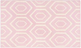 One Kings Lane Ampara Dhurrie - Pink/Ivory
