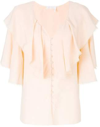 Chloé ruffled silk blouse