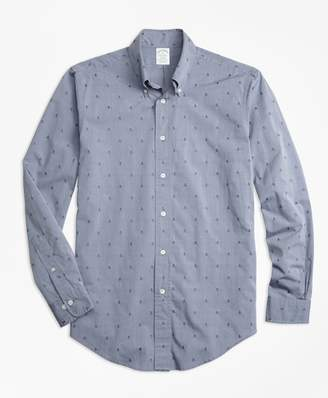 Brooks Brothers Milano Fit Dobby Pineapple Sport Shirt