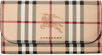 Burberry Haymarket Check Leather Slim Continental Wallet