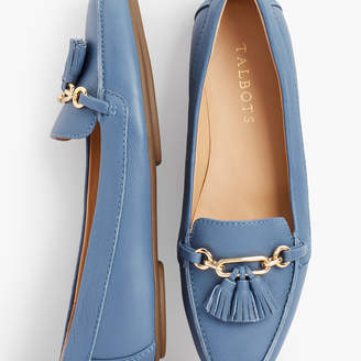 Talbots Becca Tassel Driving Moccasins - Pebbled Leather
