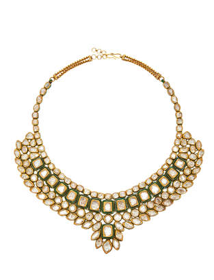 Amrapali 22K Silver 18K Gold Necklace And Diamond Necklace