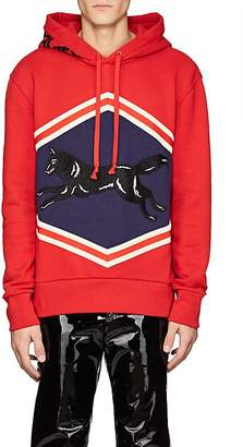 Gucci Men's Fox-Embellished Cotton Hoodie