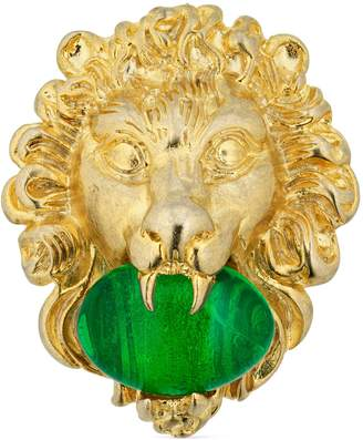 Gucci Lion head ring with cabochon stone