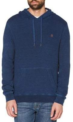 Original Penguin Waffle-Knit Pullover Hoodie