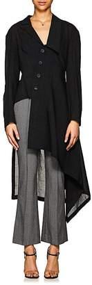 Yohji Yamamoto Women's Mélange Voile Asymmetric Coat