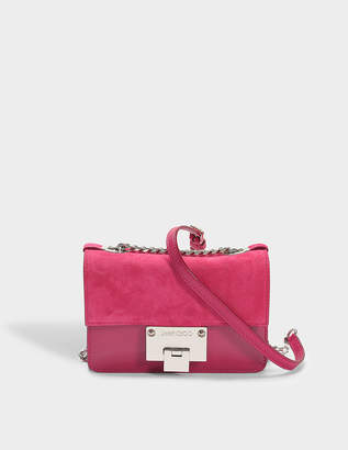 Free Returns At Monnier Freres Jimmy Choo Rebel Soft Mini Bag In Cerise Suede And Patent Leather