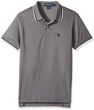 U.S. Polo Assn. Men's Slim Fit Solid Short Sleeve Poly Shirt