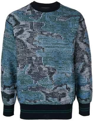 Diesel Black Gold camouflage intarsia sweater