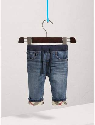 Burberry Relaxed Fit Pull-on Denim Jeans , Size: 3Y, Blue