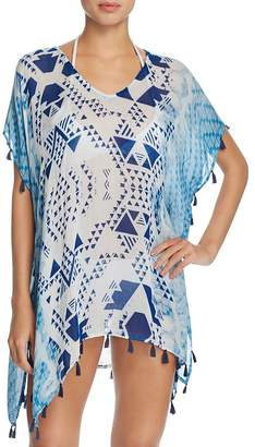 Surf Gypsy Aztec Tassel Tunic Swim Cover-Up