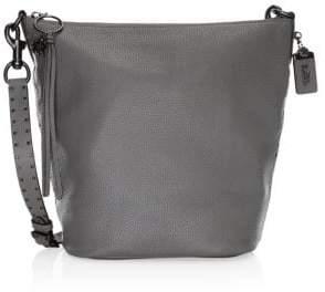 Coach Border Rivets Leather Shoulder Bag
