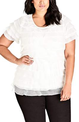 City Chic Lady Layer Top
