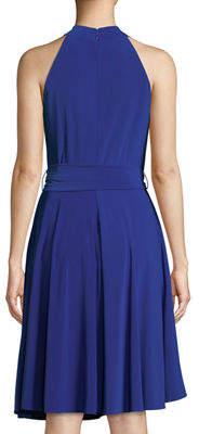 Tahari ASL Crisscross Halter A-line Dress