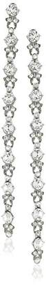 Swarovski Ben-Amun Jewelry Round Cut Long Drop Earrings for Bridal Wedding Anniversary