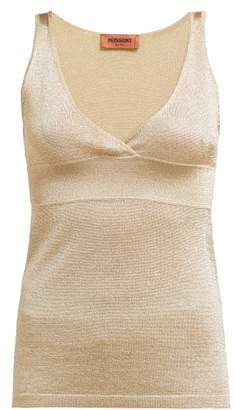 80dd323130b49d Missoni V Neck Panelled Tank Top - Womens - Gold