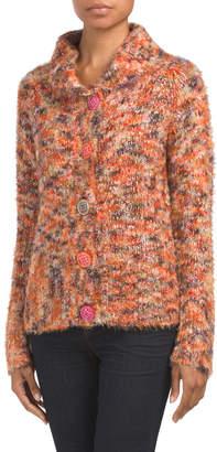 Marled Chunky Knit Cardigan