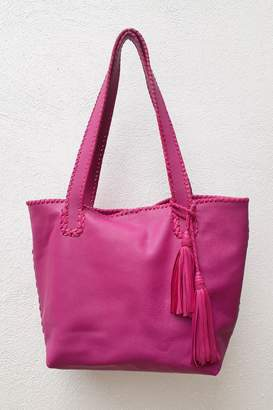 Areias Leather Pink Tote Bag