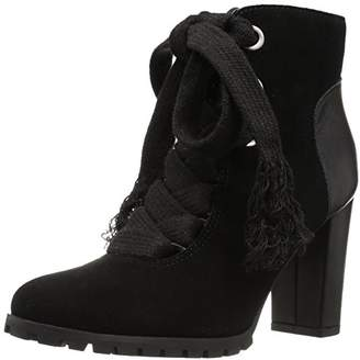 The Fix Womens Tia Lug-Sole Ankle Bootie Exaggerated Laces