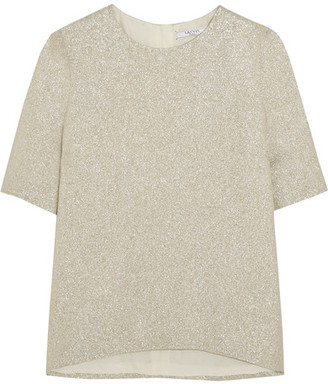 Lanvin - Silk-blend Lamé Top - Gold $1,650 thestylecure.com