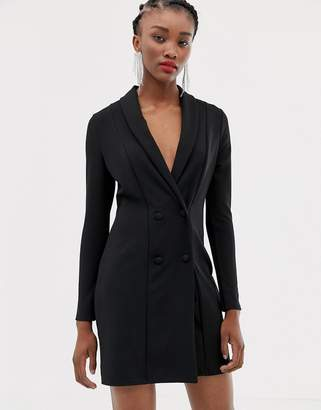 New Look tux dress in black