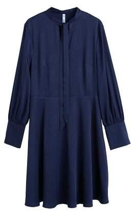 MANGO Satin tie dress