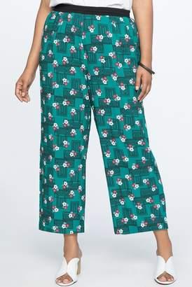a10a637149e ELOQUII Printed Wide Leg Culotte Pant (Plus Size)