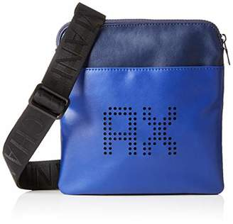 9049f3950f7 Armani Exchange Men s Perforated Leather Messenger Bag
