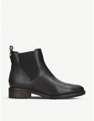 Carvela Comfort Russ faux-fur trim leather Chelsea boots
