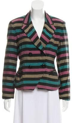 Christian Dior Double-Breasted Silk Jacket